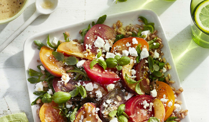 Spanish Peach & Farro Salad
