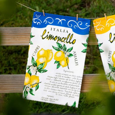 Limoncello tea towel The Mediterranean Food Company