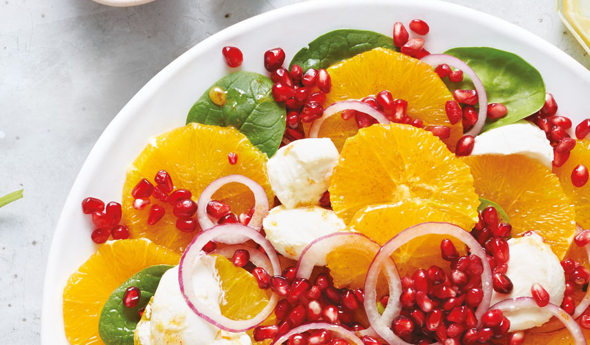 Refreshing pomegranate and orange salad