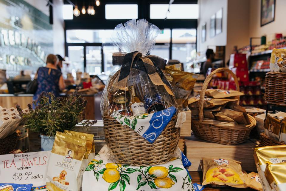 Gift hamper sold at The Mediterranean Food company Riverside Market